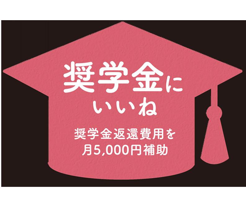 奨学金にいいね、奨学金返還費用を月5,000円補助